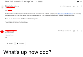 Take Me To My Chart New Visit Notes In Duke Mychart Inboxx 15 Am 3 Hours Ago