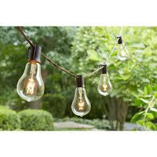 hampton bay vintage style 12 light clear string lights