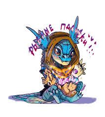 dota 2 slark and fish fingers by artofgreenu on deviantart
