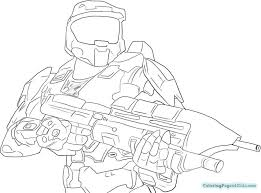 Halo Spartan Coloring Pages Free Printable Coloring Pages