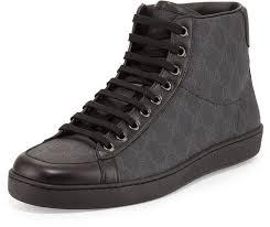 gucci high tops. gucci brooklyn gg supreme high top sneaker black tops