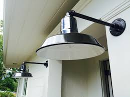 serena chose classic porcelain enamel barn lights to highlight the exterior renovations rustic1