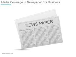 newspaper ppt template media coverage in newspaper for business ppt powerpoint presentation