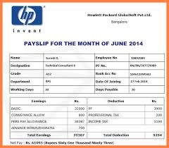 Format Salary Slip Impressive Salary Slip Format India Kenicandlecomfortzone