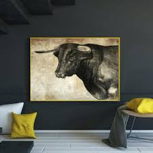 home office paint color. Home Office Paint Colors Id 2968. Artwork For Walls. Retro Painting The Bull Color