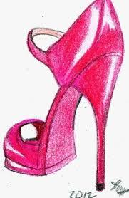 shoes heels drawing. red stiletto:a pop art style of the stiletto shoe in color pencil drawing shoes heels