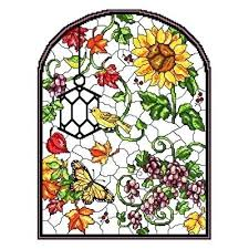 stained glass cross cross stitch pattern stain glass autumn stained glass window cross stitch kits