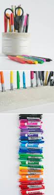 diy cement desk organizer and pencil holder design mom