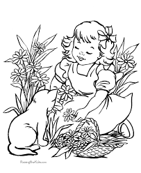 Cat Color Pages Printable Kitten And Cat Coloring Page Cats