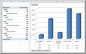 Pivot Bar Chart Excel 2010 Create Pivot Table Chart