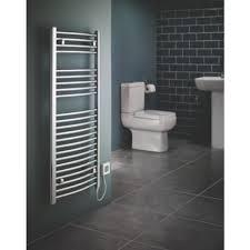 Flomasta Curved Electric Towel Radiator 1100 x 500mm Screwfixeu