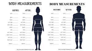 Printable Body Measurement Chart Delicious Determination