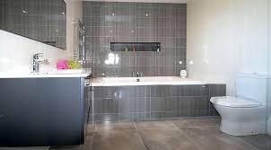 grey white tiles bathroom wall tiling dark glazed grout kitchen