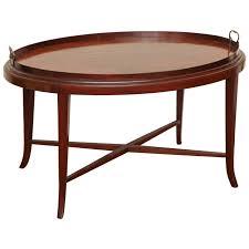 english edwardian oval mahogany tray table at stdibs