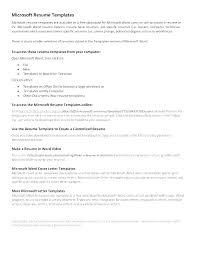 Microsoft Resume Templates 2010 Unique Where To Find Resume Templates In Microsoft Office 48 And Sample