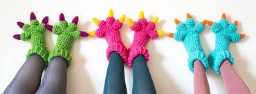 Crochet Monster Slippers Free Pattern
