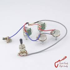 guitar jack wiring reviews online shopping guitar jack wiring 1 set guitarfamily guitar wiring harness for lp sg dot 1 toggle switch 2 push pull pots 2 pots jack 1226