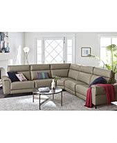 Modern leather sectional sofas Stylish Leather Raymere Fabric Leather Power Reclining Sectional Sofa Collection Created For Macys Macys Modern Leather Sectional Macys