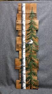 Pallet Art Fall Reclaimed Wood Pallet Art Tall Handpainted White Birch
