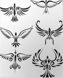Plakát Tetování Se Fénix Pixers žijeme Pro Změnu