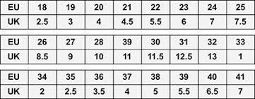 Geox Baby Size Chart Shoe Size Chart Eu Shoe Size To Uk Childrens Shoe Size