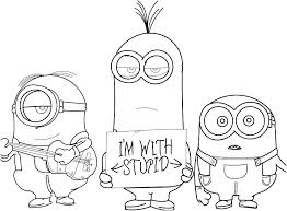 Minion Coloring Page Sesame Street Pictures Color