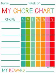 Lovely Free Printable Chore Charts For Kids Viva Veltoro