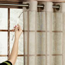 interior cream transpa curtain for glass door with brown wooden bars awesome french door