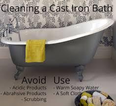 how do i clean my cast iron bath