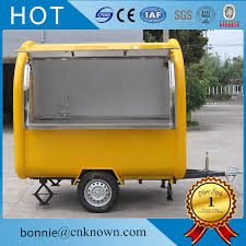 Used For Fast Food Hot Dog Ice Cream Bread 220 Cm Wide Food Trailer