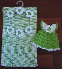 cute crochet clothespin bag and scrubbie dress dishcloth