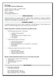 Sap Hr Resume Sample Cool Sap Mm Resume Gyomorgyuru