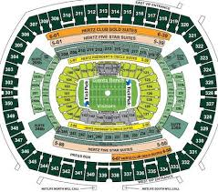 New York Giants Jets Seating Chart Seat Views Tickpick