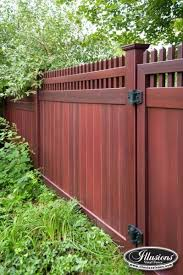 Brilliant Vinyl Privacy Fence Ideas Illusions Pvc Photo Intended Design Inspiration