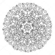 Mandala Bloem Vector Kleurplaten Voor Volwassenen Stockvector Idee