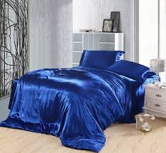 royal blue duvet covers bedding set silk satin california king size queen full twin double ed