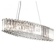 decorative long crystal ceiling bar pendant for dining room tables and kitchen islands
