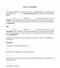 It is useful for both parties to protect their respective rights in. Supply Contract Sample Template Word Pdf
