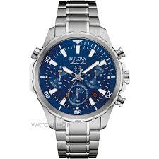 "men s bulova marine star chronograph watch 96b256 watch shop comâ""¢ mens bulova marine star chronograph watch 96b256"