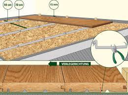 Legen sie die imprägnierten lagerhölzer in etwa gleichem abstand zueinander auf das vorbereitete fundament (siehe fundamentplan in technischen daten). Holzboden Selber Verlegen Ganz Einfach