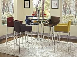 tall bar table and chairs round