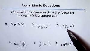 delectable worksheet to evaluate logarithm you properties of logarithms 10 3 maxresde