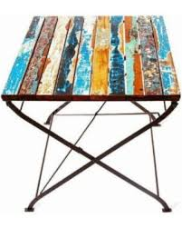 eco chic furniture. EcoChic Teak For Two Reclaimed Wood Table, Multi, Patio Furniture (Iron) Eco Chic