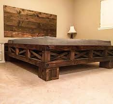 diy rustic furniture. farmhouse california king diy bed by ryobi nation member this is such an awesome design diy rustic furniture