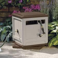 portable outdoor storage box garden hideaway water hose reel bin patio container for