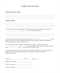 Employee Loan Form Template Agreement Sample – Trufflr