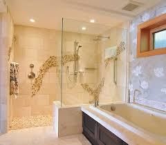 view in gallery doorless shower in modern