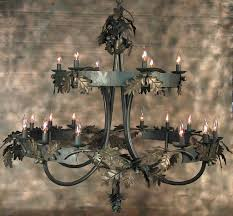oak leaf chandelier broken charles saunders full size