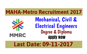 maha metro recruitment mechanical civil electrical  maha metro recruitment 2017 mechanical civil electrical engineers govt jobs hint