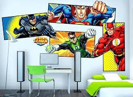 superhero wall decals australia justice league superhero wall decal set